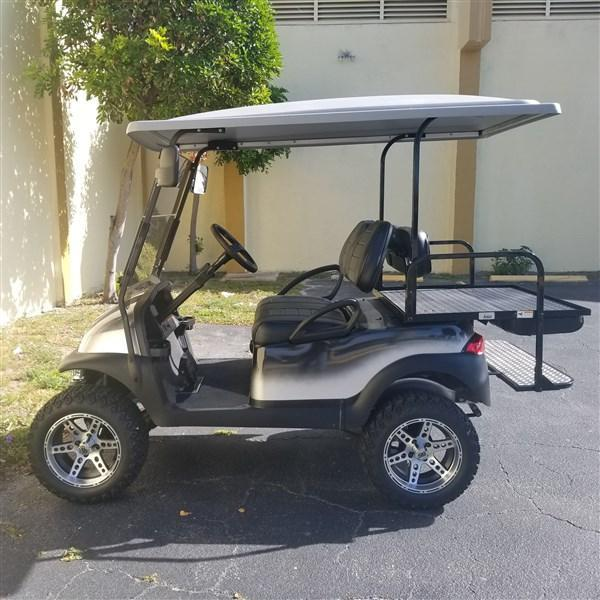 "2015 SILVER & BLACK CUSTOM PAINT JOB Club Car Precedent Golf Cart with 6"" A-ARM LIFT - High Speed Code 20 MPH"