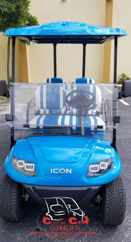 2019 ICON I40F CARIBBEAN BLUE GOLF CART 25+ MPH