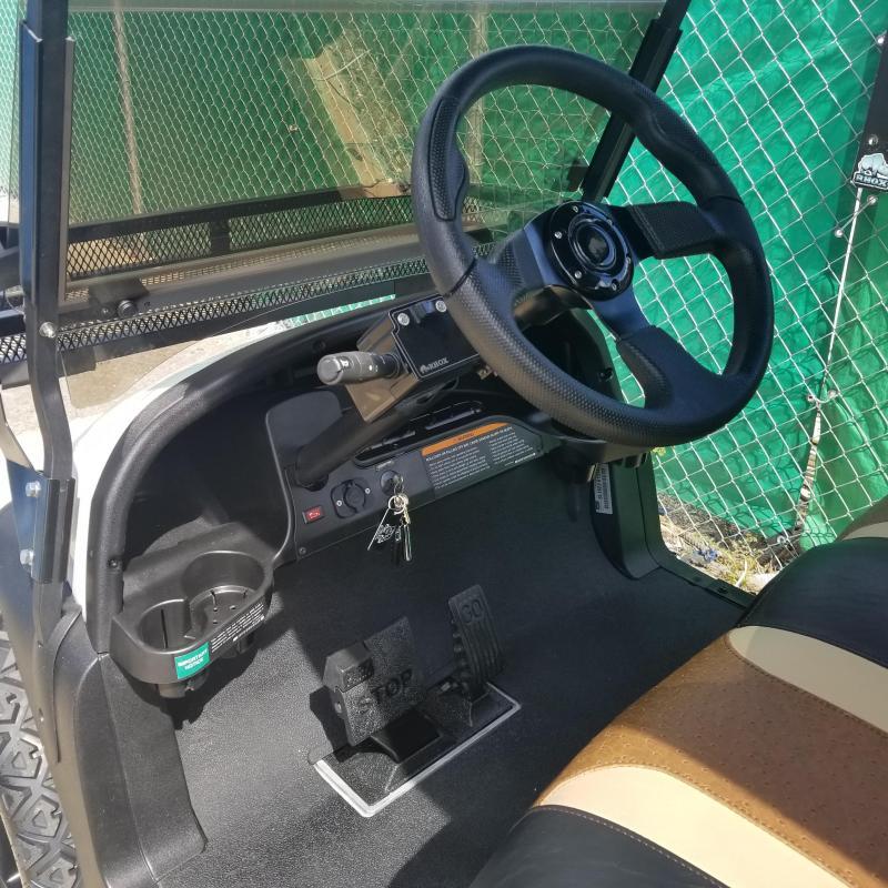 Custom 6 Passenger Lifted White/Black  Gas EFI Engine Club Car Precedent