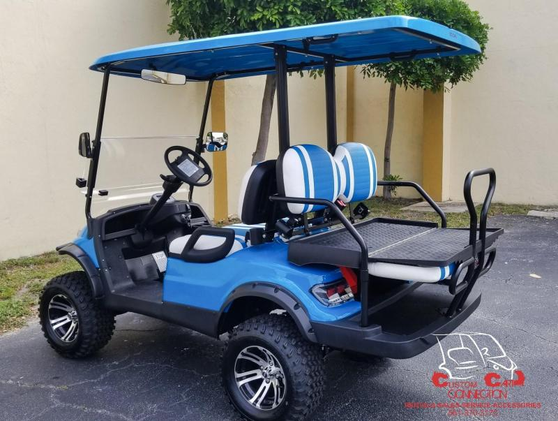 2019 ICON i40L Lifted Caribbean Blue Golf Cart