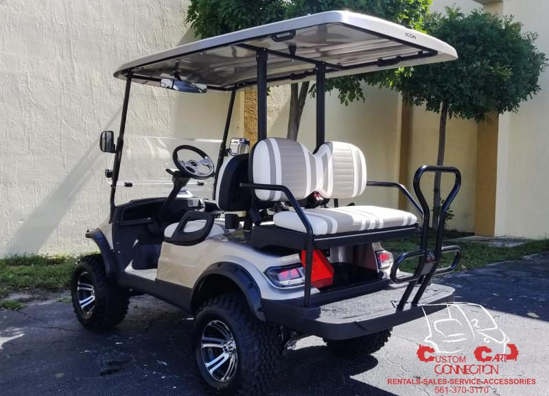 2019 ICON i40L Champagne Lifted Golf Cart