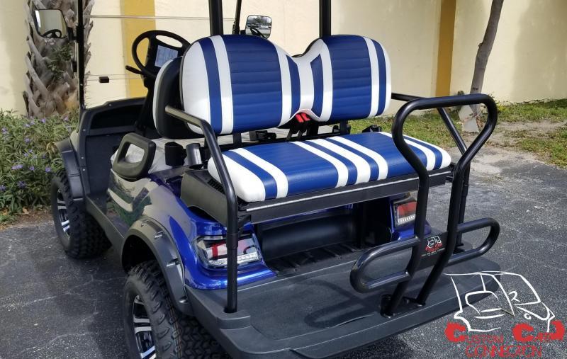 2019 ICON i40L Indigo Blue Golf Cart Electric Vehicle
