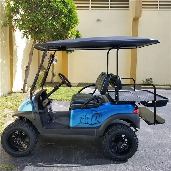 "2015 BLUE TROPICAL THEMED Club Car Precedent Golf Cart with 6"" A-ARM LIFT (High Speed Code 20 MPH)"