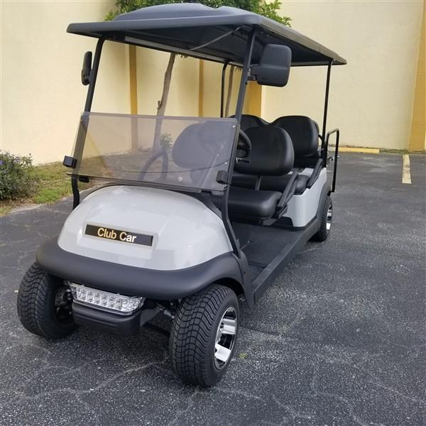 2018 Gray 6 Seat Limo Club Car Precedent Golf Cart