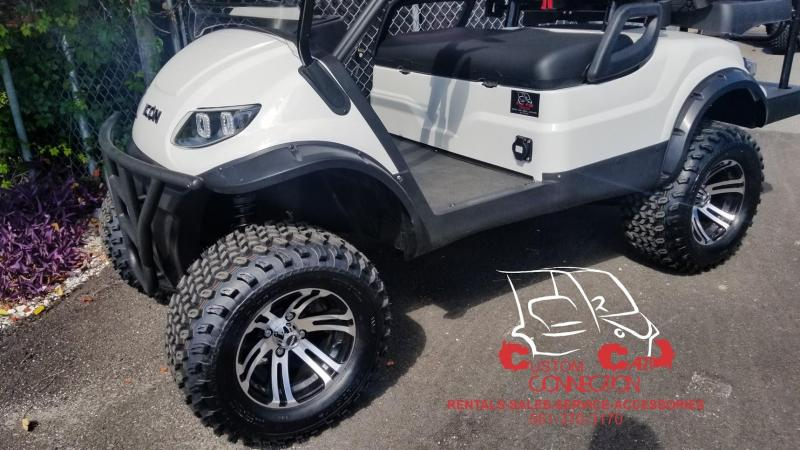 2019 ICON Alpine White i40L Golf Cart Electric Vehicle