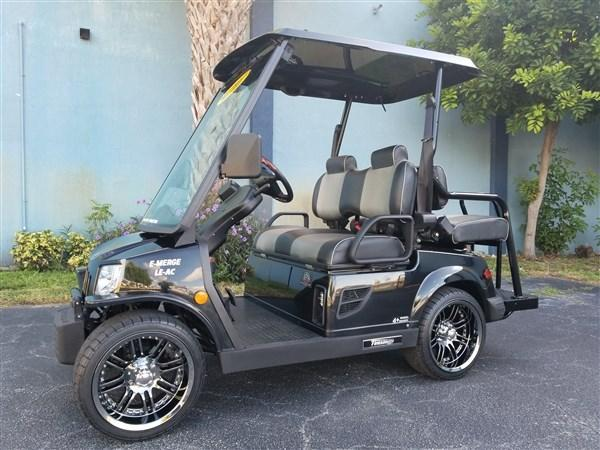 New 2018 Black Tomberlin E-Merge LE Golf Cart Street Ready 25mph