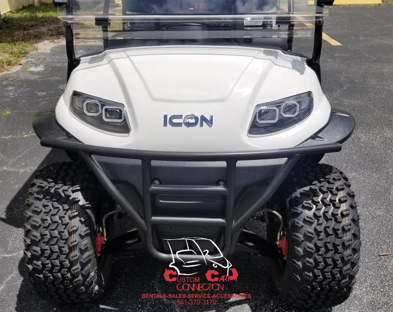 2019 ICON i60L White Lifted 6 Passenger Golf Cart