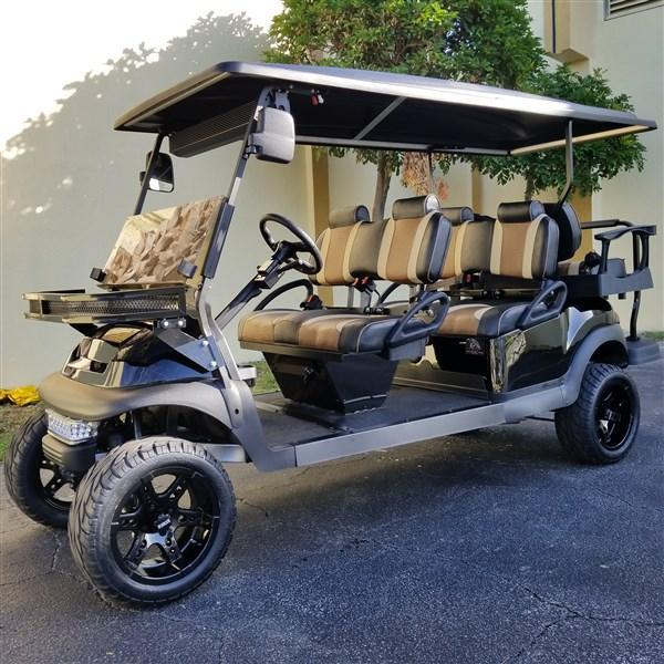 Custom 2016 Club Car Precedent 6 passenger EFI Fuel Injected Gas Cart