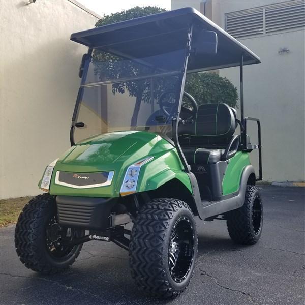 Club Car Precedent Golf Cart with LIME GREEN R Champ Body Kit