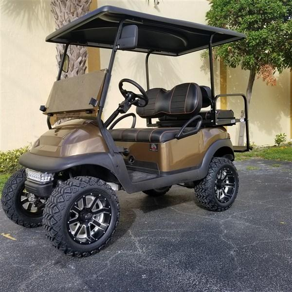 "2015 BRONZE Club Car Precedent Golf Cart with 6"" A-ARM LIFT/ High Speed Code 20 MPH"
