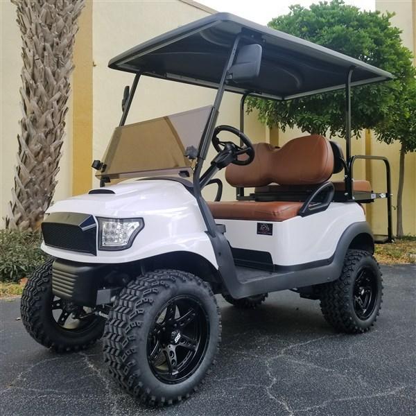 2014 Club Car Precedent with White Alpha Body Kit