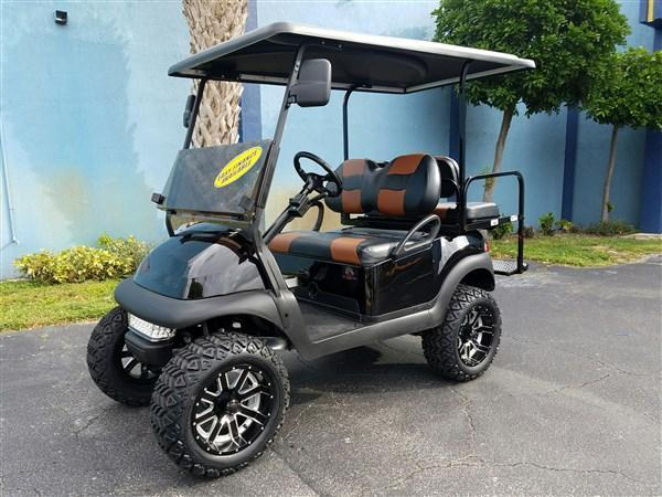 2014 Black Lifted Golf Cart Club Car Precedent High Speed 20mph