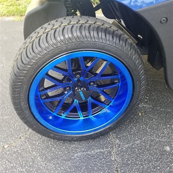 2014 BLUE RXV 23MPH 14″ BLUE RIMS ON LO PRO TIRES