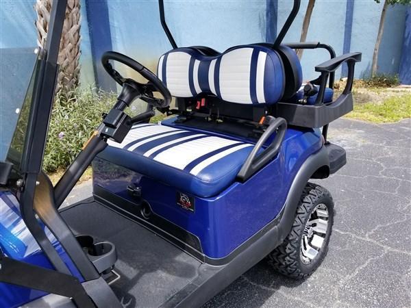 CLUB CAR PRECEDENT HIGH SPEED NAVY BLUE CUSTOM CART