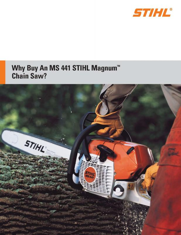"Stihl MS441 C-MQ Magnum Chainsaw 32"" bar"