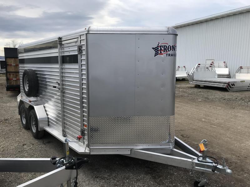 NEW 2018 Frontier 7' x16' Aluminum Livestock Trailer w/ sliding centergate