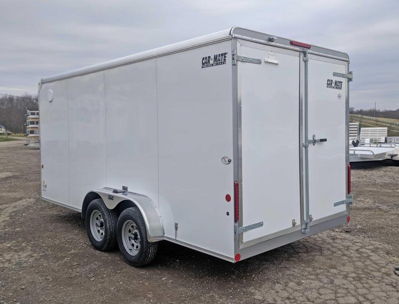 "NEW 2019 Car Mate 7X16 HD Custom Cargo Trailer w/ Barn Doors & 6"" Additional Height"