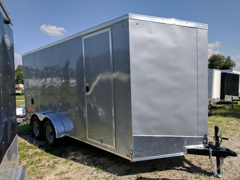"NEW 2019 Cargo Express 7X16 EX DLX V-Nose Cargo Trailer w/ Ramp Door & 6"" Additional Height"
