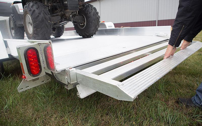 NEW 2020 Aluma 12' UTV Trailer w/ Underbody Ramp