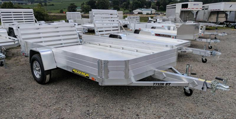 "NEW 2018 Aluma 6'5"" X 12' HD Utility Trailer w/Bi-Fold Gate & 12"" Solid Sides"