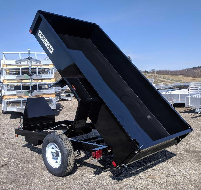 NEW 2019 Bri-Mar 5X8 Lo Pro Dump Trailer