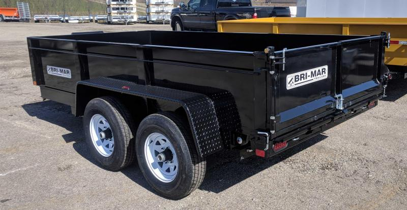 NEW 2019 Bri-Mar 6x12 Lo Pro Equipment Dump w/ Underbody Ramps