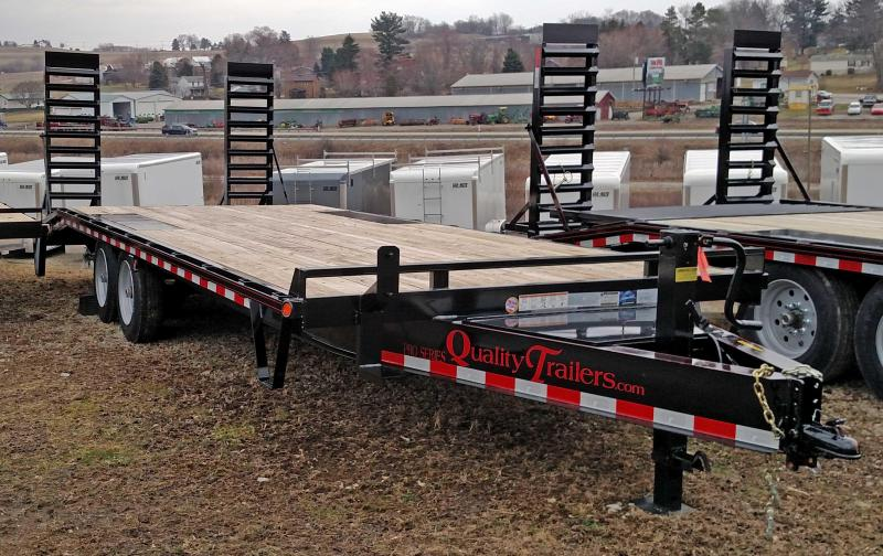 NEW 2019 Quality 19+4 HD PRO Deckover Tagalong Trailer w/ Pop Up Dove Tail
