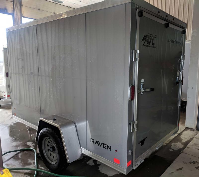 "NEW 2018 ATC 6X10 ""RAVEN"" V-NOSE Aluminum Cargo Trailer w/ Ramp"