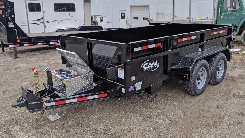 NEW 2019 CAM 6x10 Lo Pro Equipment Dump Trailer