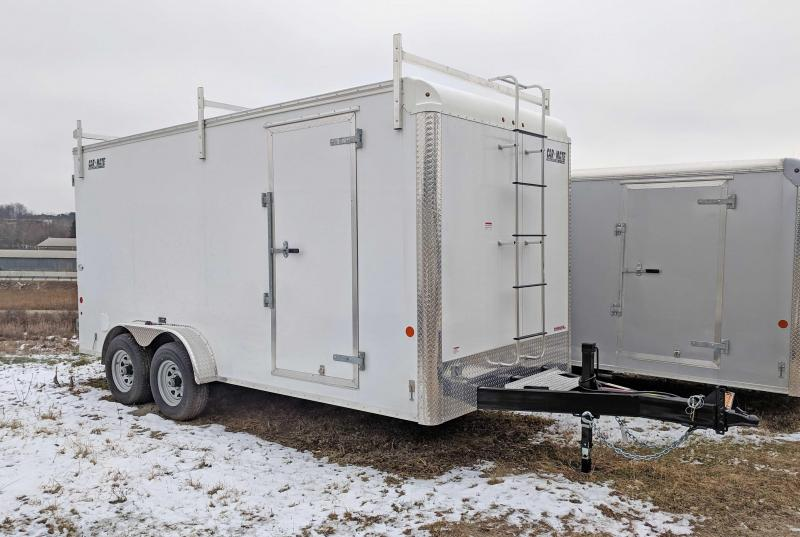 """NEW 2019 Car Mate 7X16 HD """"CONTRACTOR"""" Cargo w/ Barn Doors & 12"""" Additional Height"""