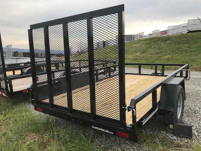 NEW 2019 Cam 7x12 Utility Trailer w/Spring Assist Lay Flat Gate