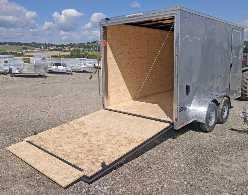 NEW 2020 Cargo Express 7x14 EX DLX Sloped V-Nose Cargo Trailer w/ Ramp