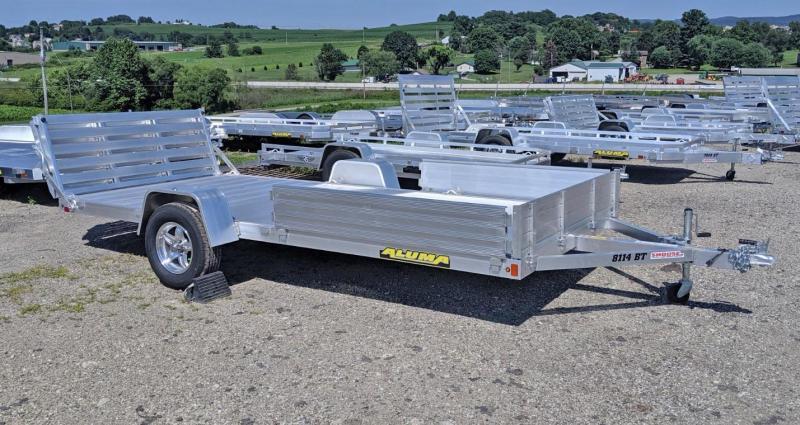 """NEW 2020 Aluma 6'9"""" x 14 Utility Trailer w/ Side Ramps & Bi-Fold Gate"""