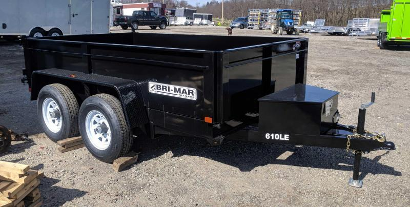 NEW 2019 Bri-Mar 6X10 Lo Pro Dump Trailer (10K)