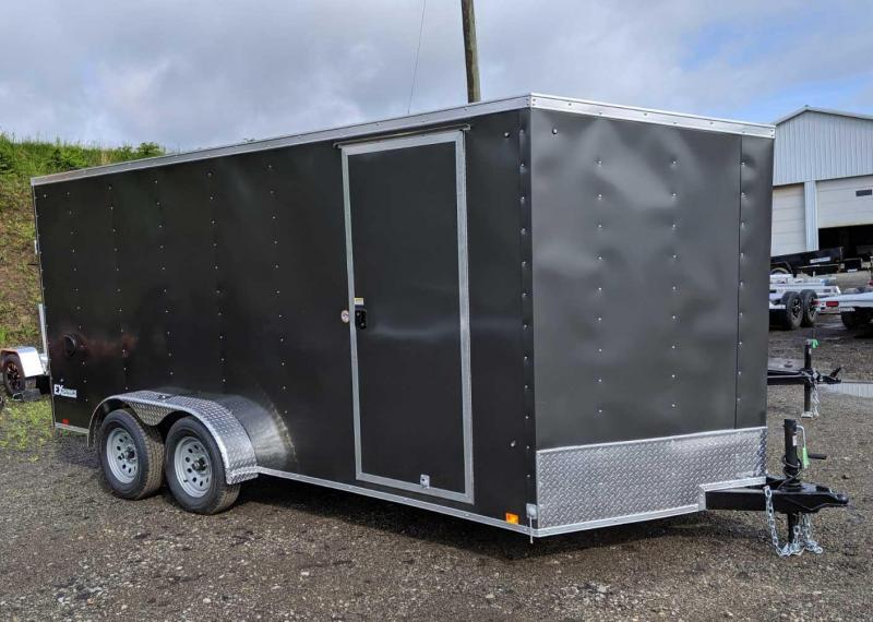 "NEW 2020 Cargo Express 7x16 EX DLX Sloped V-Nose Cargo w/ Ramp Door (6"" Add'l Height)"