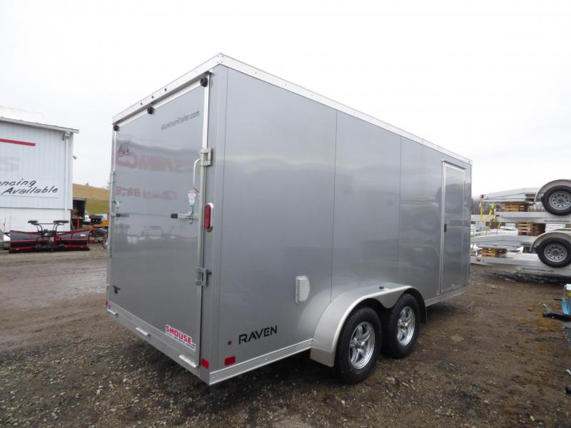NEW 2018 ATC 7X16 Raven Aluminum Trailer w/Rear Ramp Door