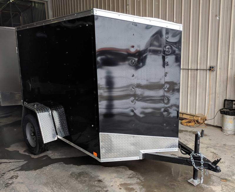 NEW 2019 Cargo Express 5X8 EX DLX V-Nose Cargo Trailer w/ Ramp