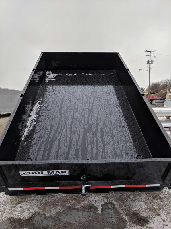 "NEW 2018 Bri-Mar 6'9""X 12' HD Lo Pro Equipment Dump"