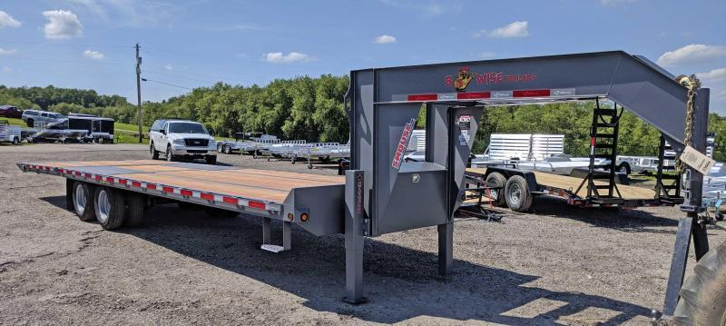 NEW 2018 B-Wise 30' HD Deckover GOOSENECK Equipment Trailer w/ Power Beavertail
