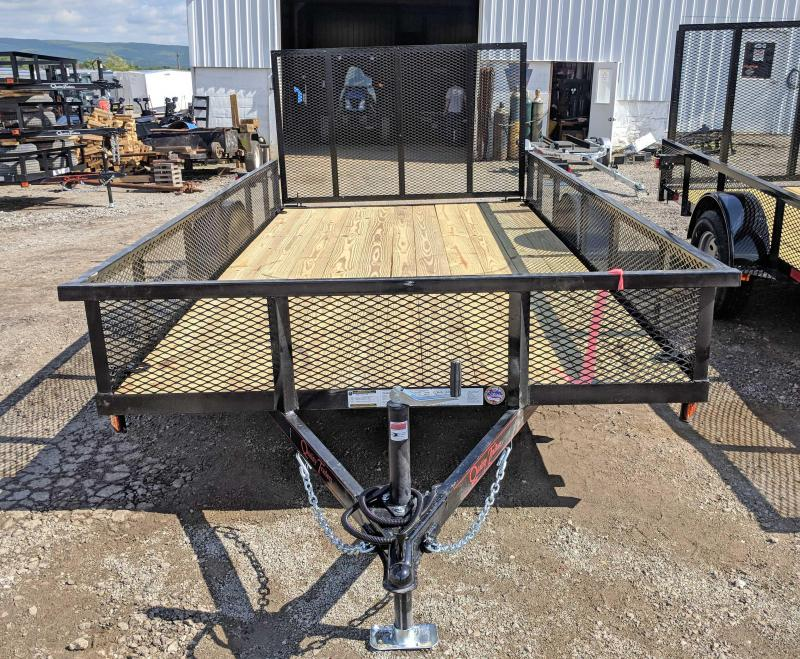 NEW 2019 Quality 6X14 PRO Utility Trailer w/ Mesh Sides & Spring Assist Gate