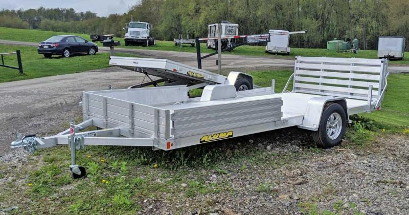 "NEW 2020 Aluma 6'9"" x 15' Utility w/ Side Ramps /Bi-Fold Gate"