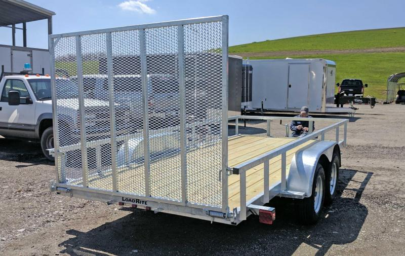 "NEW 2018 Load Rite 6x16 ""Galvanized"" Utility Trailer w/Spring Assist Gate"