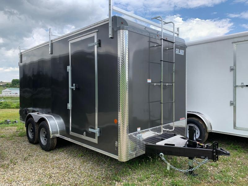 NEW 2019 Car Mate 7x16 HD Contractor Cargo Trailer w/ Barn Doors