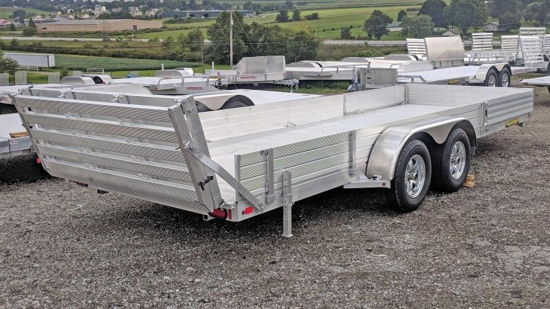"NEW 2020 Aluma 6'9"" x 20' SR Utility w/ Side Ramps - Solid Rear & BiFold Gate"