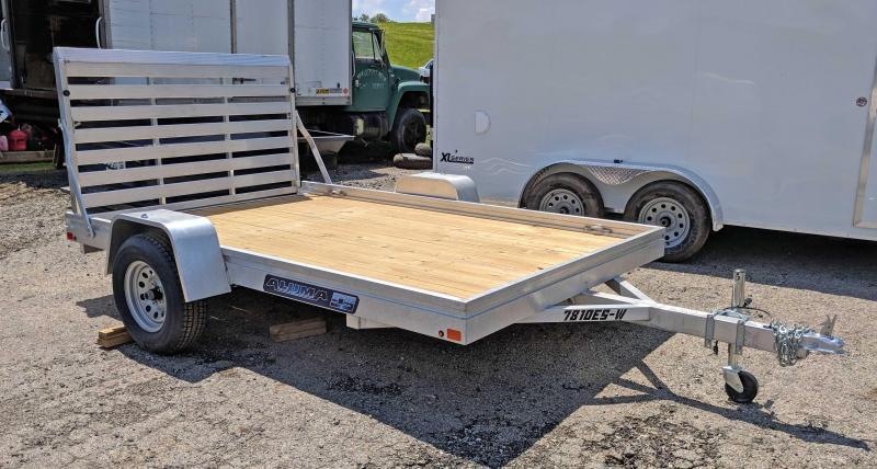 """NEW 2019 Aluma 6'6"""" x 10' ES Utility Trailer w/Wood Deck"""