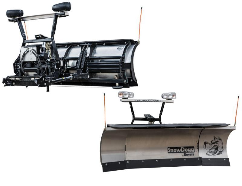 NEW SNOWDOGG 8' - 10' Expandable Stainless Steel Snow Plow w/ LED Lights