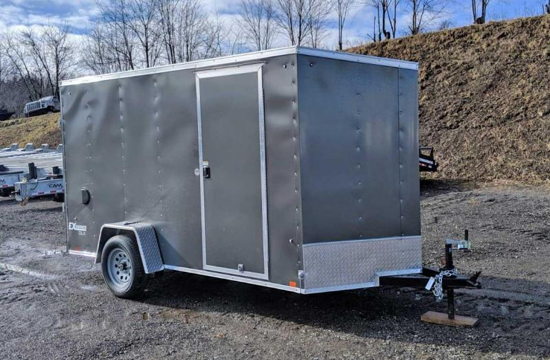 "NEW 2020 Cargo Express 6x12 EX DLX Sloped V-Nose Cargo Trailer w/ Ramp Door (6"" Add'l Height)"