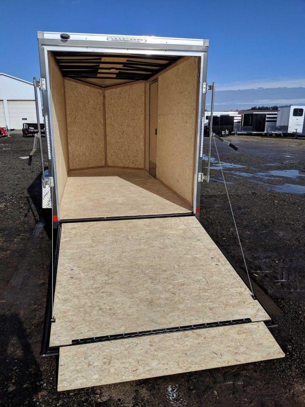 NEW 2020 Cargo Express 6x12 EX DLX Sloped V-Nose Cargo Trailer w/ Ramp Door
