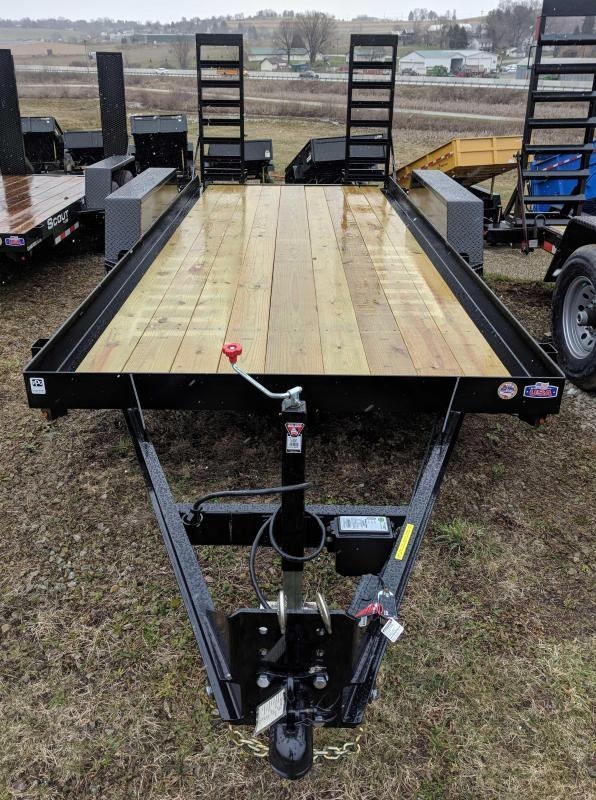 NEW 2019 CAM 16' WARRIOR Equipment Trailer w/ Stand Up Ramps