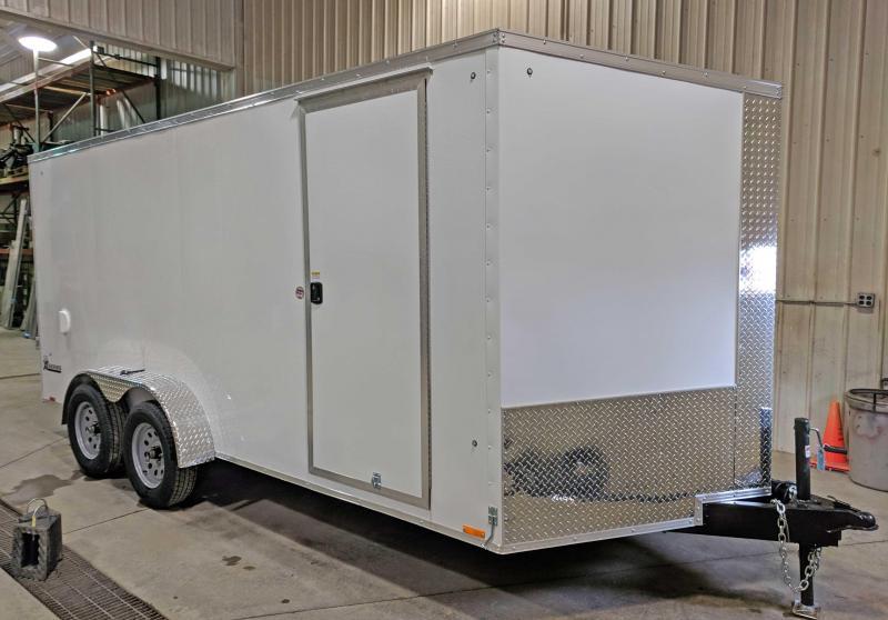 NEW 2018 Cargo Express 7X16 XLW Sloped V-Nose Cargo w/Ramp Door & 6